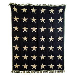 Black Star Woven Throw by VHC Brands - DL Country Barn