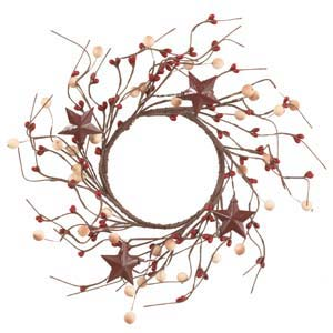 Farmhouse Star Wreath 4""