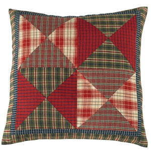 Cabin Quilted Pillow 16 inch