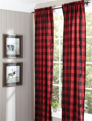 "Buffalo Check Panel Curtains 84""L"