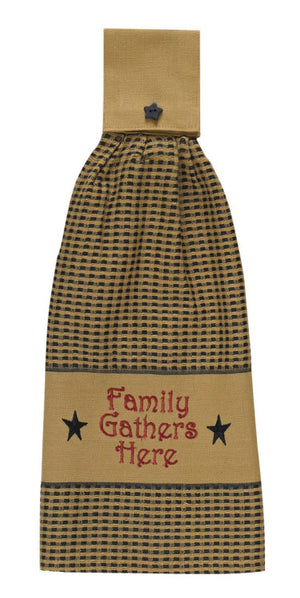 Family Gathers Here Hand Towel by Park Designs - DL Country Barn