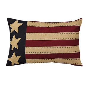Flag Pillow 12x20 inch | Americana Decorative Pillow