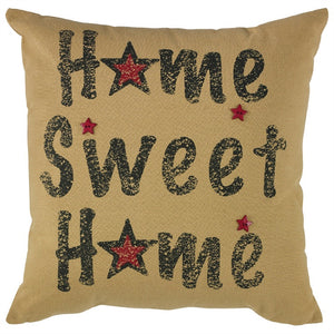 Home Sweet Home Printed Pillow 20 inch | Decorative Accent Pillow