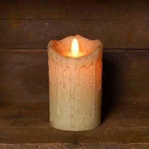 Ivory Realistic Pillar Candle