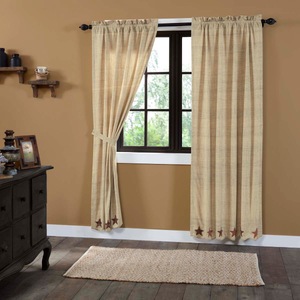 Abilene Star Panel Curtains - Set of 2 84x40
