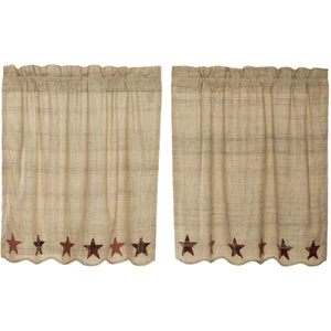 "Abilene Star Tier Curtains 36""L"