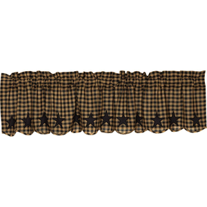 Black Star Scalloped Valance