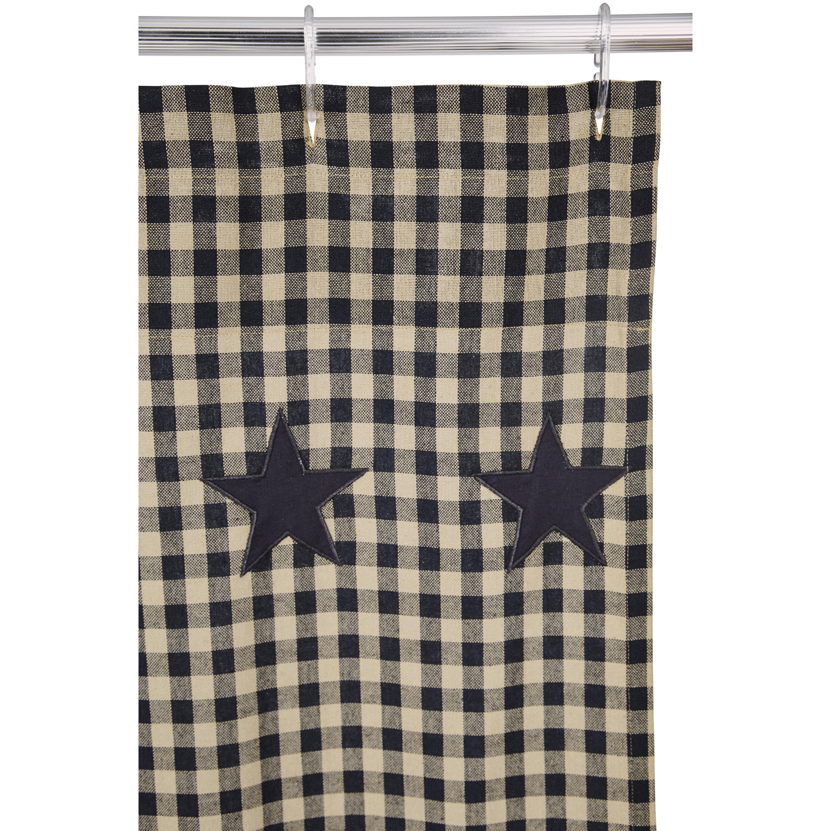 Black Star Shower Curtain Country Primitive Shower Curtain Dl