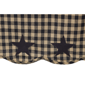 Black Star Shower Curtain | Country Primitive Shower Curtain