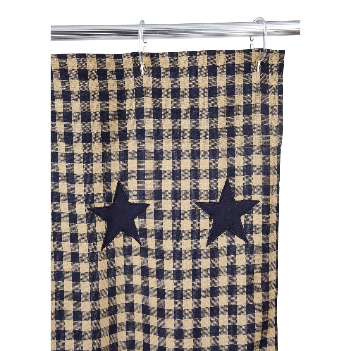 ... Navy Star Shower Curtain | Country Primitive Shower Curtain ...