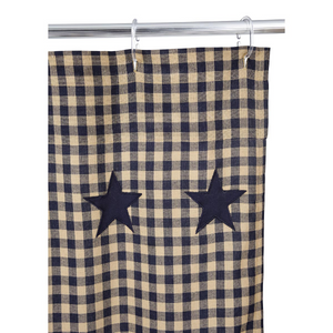 Navy Star Shower Curtain | Country Primitive Shower Curtain