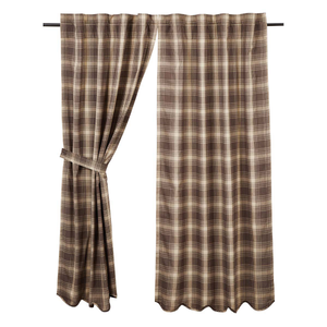 "Dawson Star Plaid Short Panel Curtains 63""L"