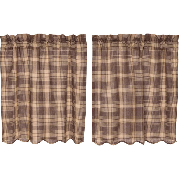 Dawson Star Plaid Tier Curtains - (Choose Size)