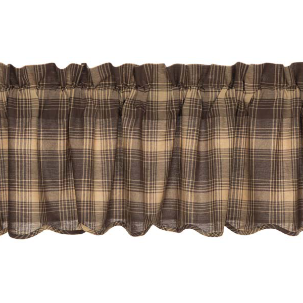 Dawson Star Plaid Scalloped Valance (Choose Size)