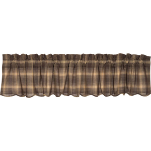 Dawson Star Plaid Scalloped Valance