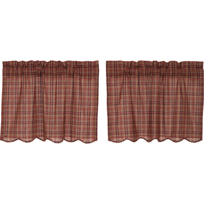 Parker Scalloped Tier Curtains (Choose Size)