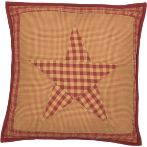 Ninepatch Star Quilted Pillow 16 inch