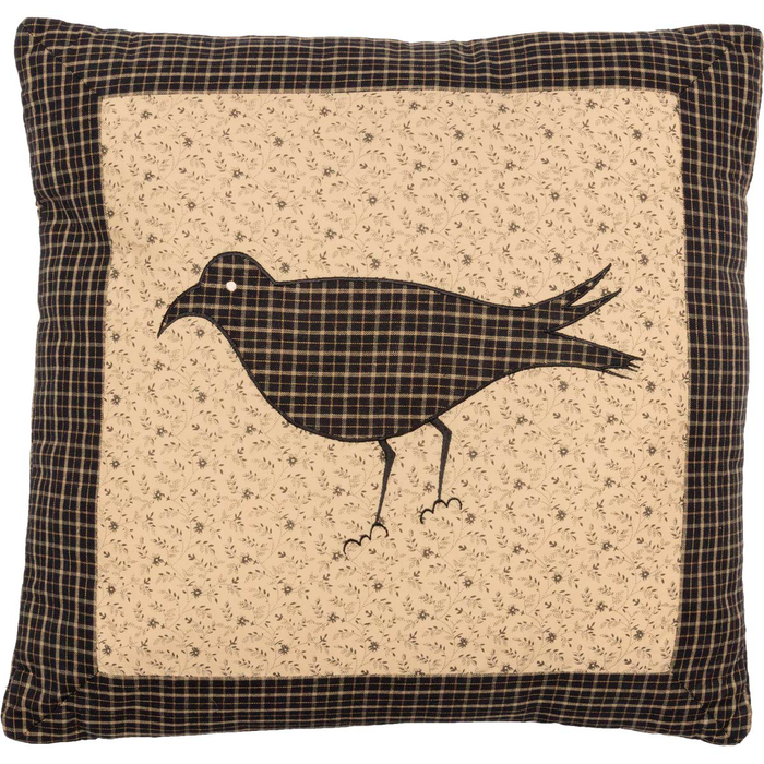 "Kettle Grove Crow 16"" Pillow"