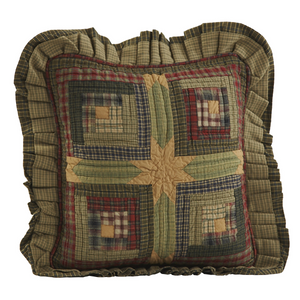 Tea Cabin Ruffled 16 inch Pillow | VHC Brands