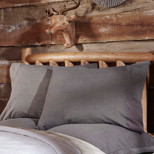 Black Chambray Pillowcase (Set of 2)