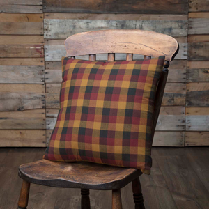 Heritage Farms Primitive Check Fabric Pillow 16 inch