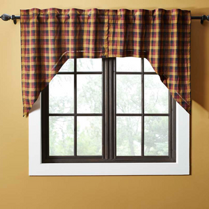 Heritage Farms Primitive Check Swag Curtains