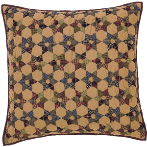 Tea Star Quilted Euro Sham 26 inch
