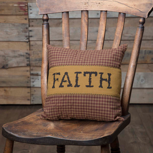 "Heritage Farms ""Faith"" Pillow 12 inch"