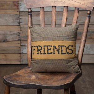 "Heritage Farms ""Friends"" Pillow 12 inch"