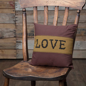 "Heritage Farms ""Love"" Pillow 12 inch"