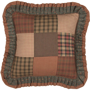 Crosswoods Patchwork Pillow 18 inch