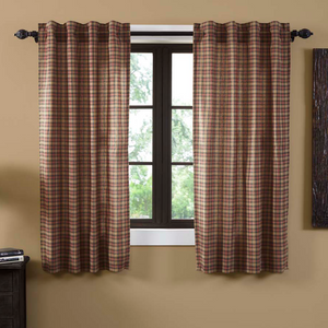 "Crosswoods Short Panel Curtains 63""L"