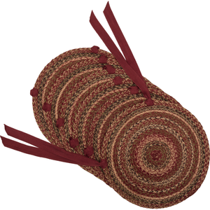 Cider Mill Jute Chair Pad - Set of 6