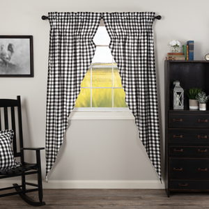 Annie Buffalo Check Black Prairie Long Curtain