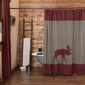 Cumberland Mose Applique Shower Curtain
