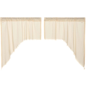 Tobacco Cloth Natural Swag Curtains