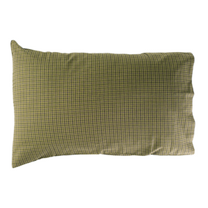 Tea Cabin Green Plaid Pillowcases - Set of 2  by VHC Brands