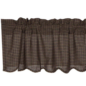 Kettle Grove Plaid Scalloped Valance 16x72