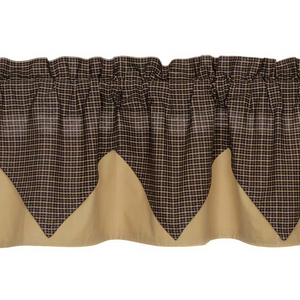 Kettle Grove Plaid Layered Valance 16x72