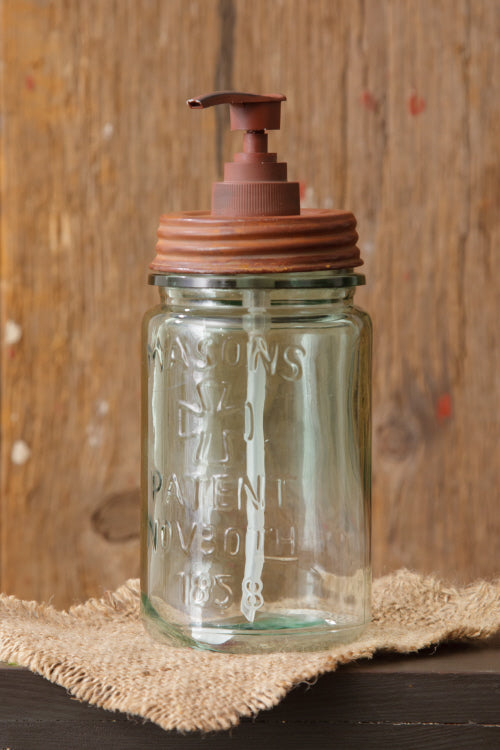 Canning Jar with Pump