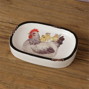 Hen and Chicks Soap Dish