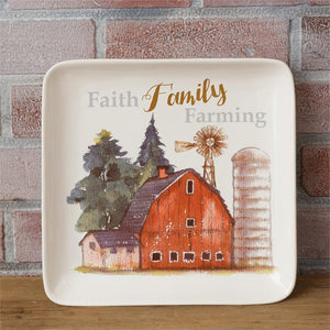 Faith Family Farming Plate