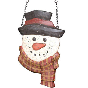 Hanging Snowman with Scarf Arrow Replacement Sign by K&K Interiors