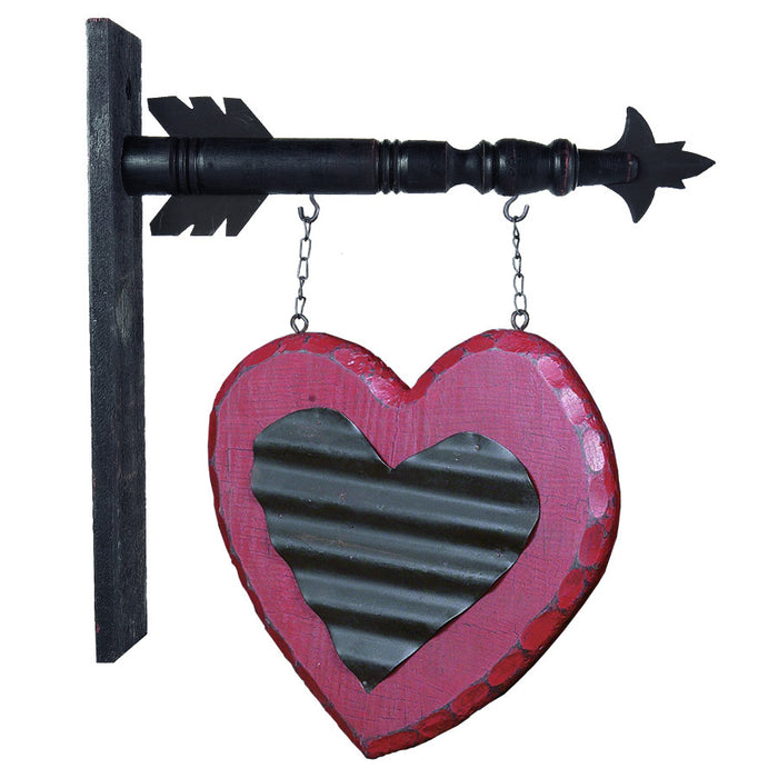 Hanging Heart Arrow Replacement Sign