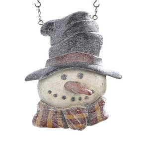Glitter Snowman in Tophat Arrow Replacement Sign by K&K Interiors - DL Country Barn