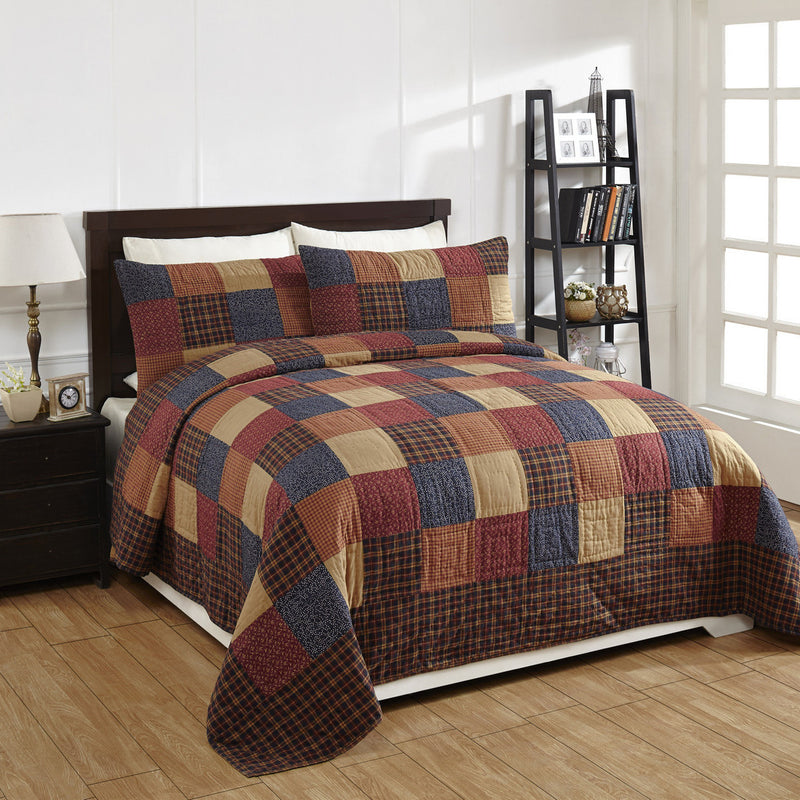 Old Glory Quilted Bedding Set 3pc King Dl Country Barn
