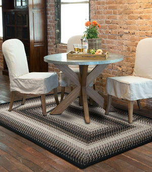 Black Mist Ultra Durable Braided Rug by Homespice - DL Country Barn