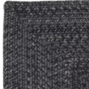 Black Ultra Durable Braided Rug by Homespice - DL Country Barn