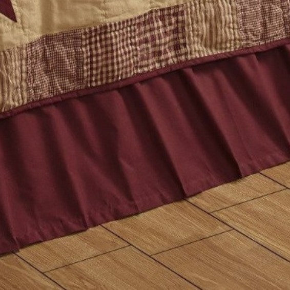 Solid Burgundy Bed Skirt