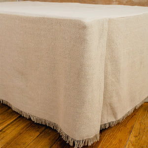 Burlap Natural Bed Skirt - Twin, Queen, King